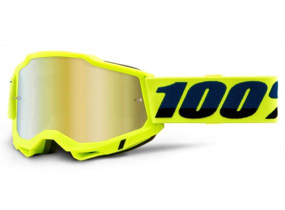 ACCURI 2 100% - USA , brýle žluté - zrcadlové zlaté plexi