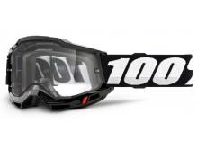 ACCURI 2 100% - USA , Enduro Moto brýle černé - čiré Dual plexi