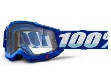ACCURI 2 100% - USA , Enduro Moto brýle modré - čiré Dual plexi