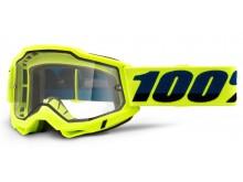 ACCURI 2 100% - USA , Enduro Moto brýle žluté - čiré Dual plexi