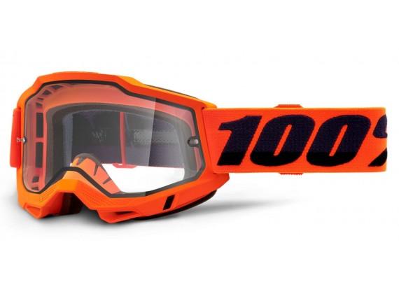 ACCURI 2 100% - USA , Enduro Moto brýle Orange - čiré Dual plexi