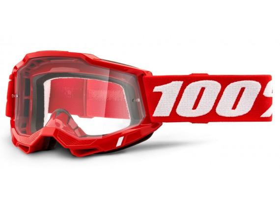 ACCURI 2 100% - USA , OTG brýle červené - čiré plexi