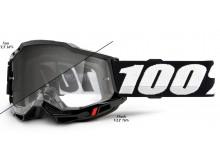ACCURI 2 100% - USA , UTV/ATV SAND/OTG brýle černé - Photochromic plexi