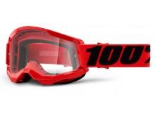 STRATA 2 100% - USA , brýle červené - čiré plexi