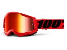 STRATA 2 100% - USA , brýle červené - zrcadlové červené plexi