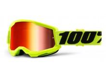 STRATA 2 100% - USA , brýle žluté - zrcadlové červené plexi