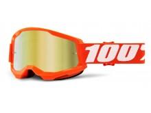 STRATA 2 100% - USA , brýle Orange - zrcadlové zlaté plexi