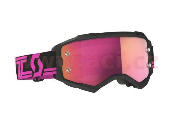 brýle FURY CH Limited BCA, SCOTT - USA (černé, růžovo fialové chrom plexi s čepy pro slídy