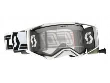 brýle PROSPECT Super WFS, SCOTT - USA (černá/bílá, čiré plexi s Roll-Off)