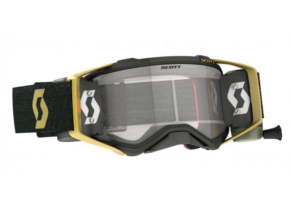 brýle PROSPECT WFS, SCOTT - USA (černá/zlatá, čiré plexi s Roll-Off)