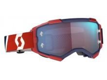 brýle FURY, SCOTT - USA (červená/modrá/ modré chrom plexi)
