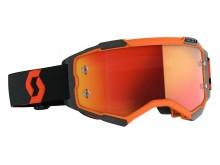 brýle FURY, SCOTT - USA (oranžová/černá/ oranžové chrom plexi)