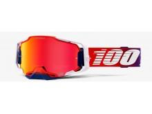 ARMEGA 100% - USA , brýle Factory - HIPER červené chrom plexi