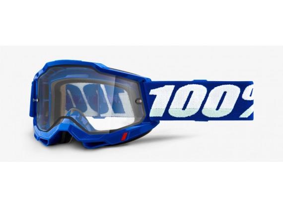 ACCURI 2 100% - USA , ENDURO brýle modré - čiré plexi