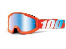 brýle Strata Orange, 100% dětské (oranžová, modré chrom plexi s čepy pro slídy)