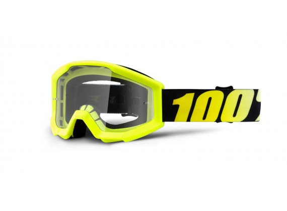 brýle Strata Neon Yellow, 100% dětské (žlutá, čiré plexi s čepy pro slídy)