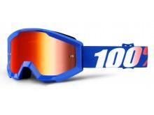 brýle Strata Nation, 100% dětské (červené plexi s čepy pro slídy)