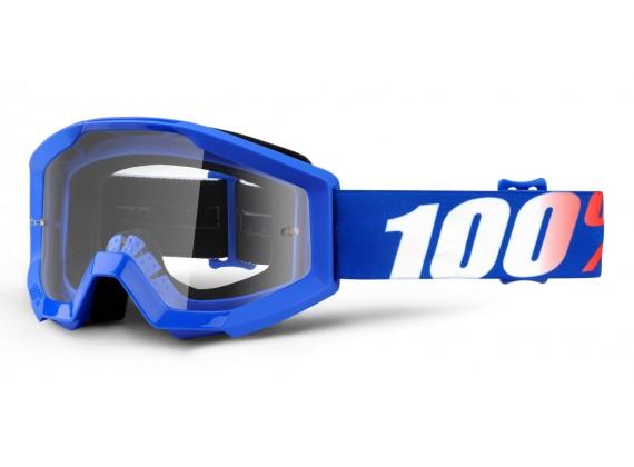 brýle Strata Nation, 100% dětské (čiré plexi s čepy pro slídy)
