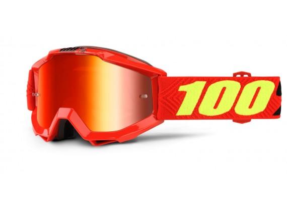 brýle Accuri Saarinen, 100% dětské (červené chrom plexi s čepy pro slídy)