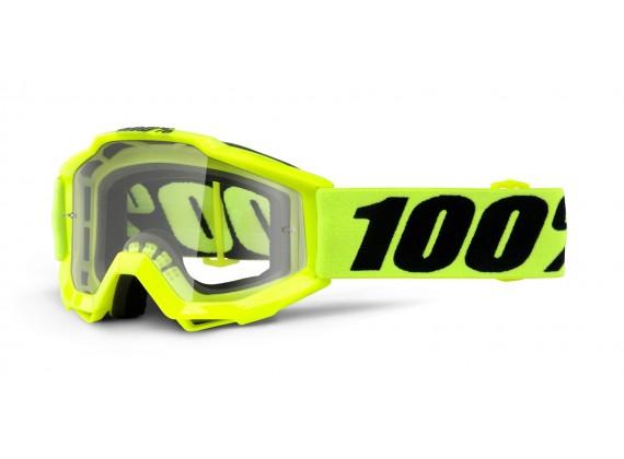 brýle Accuri JR Fluo Yellow, 100% dětské (čiré plexi s čepy pro slídy)