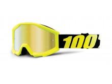 brýle Strata Neon Yellow, 100% dětské (zlaté chrom plexi s čepy pro slídy)