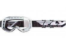 brýle FOCUS 2020, FLY RACING dětské (bílé, čiré plexi bez pinů)