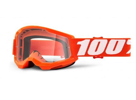 STRATA 2 100% - USA , dětské brýle Orange - čiré plexi