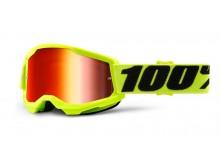 STRATA 2 100% - USA , dětské brýle žluté - zrcadlové červené plexi