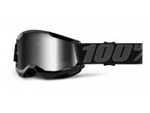 STRATA 2 100% - USA , dětské brýle černé - zrcadlové stříbrné plexi
