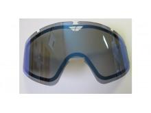 sklo FLY Zone double - FLY RACING (zrcadlově modré kouřové)