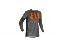 dres LITE 2021, FLY RACING - USA (šedá/oranžová/černá)