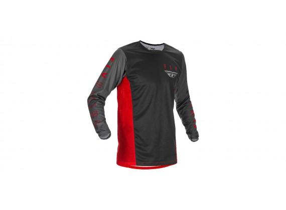 dres KINETIC K121 2021, FLY RACING - USA (červená/šedá/černá)