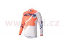 dres RACER BRAAP 2021, ALPINESTARS (světle šedá/oranžová/modrá)