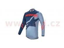 dres RACER BRAAP 2021, ALPINESTARS (světle modrá/modrá/červená)