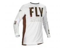 dres LITE 2021 L.E., FLY RACING (bílá/bronzová)