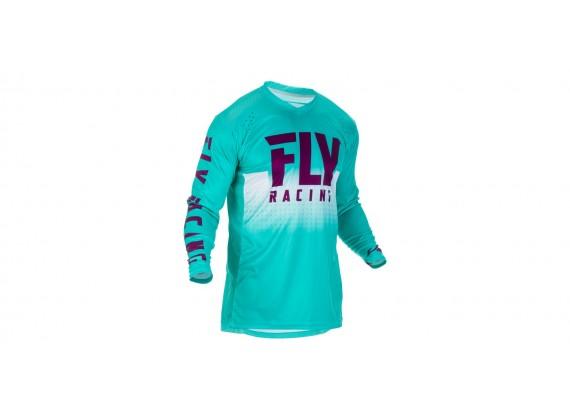 dres LITE 2019, FLY RACING (tyrkysová/fialová/bílá)