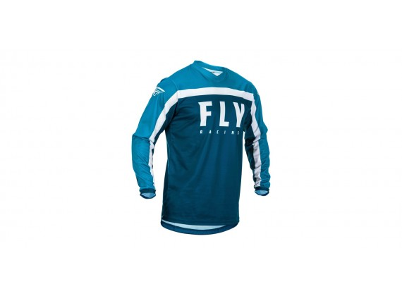 dres F-16 2020, FLY RACING (modrá/bílá)