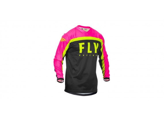 dres F-16 2020, FLY RACING (růžová/černá/hi-vis)