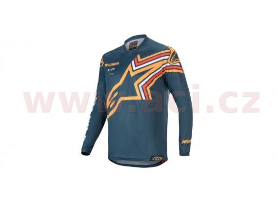 dres RACER BRAAP 2020, ALPINESTARS (tmavá modrá/oranžová)
