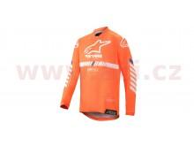 dres RACER TECH 2020, ALPINESTARS, dětské (oranžová fluo/bílá/modrá)