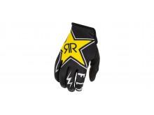 rukavice LITE 2021 ROCKSTAR, FLY RACING - USA (černá/červená/žlutá)