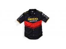 košile PILOT GEICO HONDA, 100% (černá)