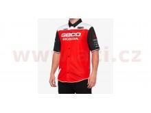 košile BLITZ, 100% (červená/bílá/černá)