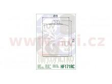 Olejový filtr HF171CRC, HIFLOFILTRO (chromový)