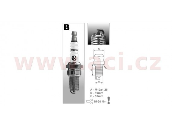 zapalovací svíčka B10C řada Super, BRISK - Česká Republika