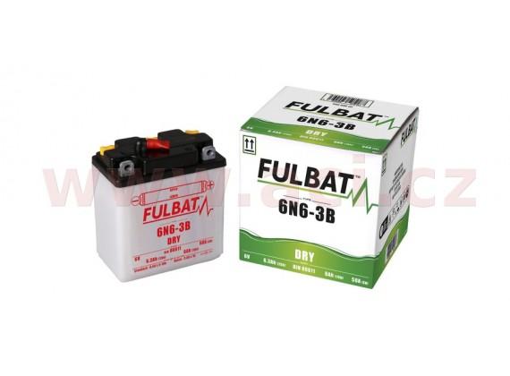 baterie 6V, 6N6-3B, 6Ah 50A, konvenční 99x57x111 FULBAT (vč. balení elektrolytu)