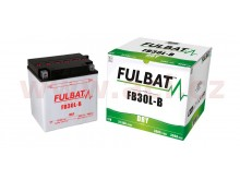 baterie 12V, FB30 l-B, 31,5Ah, 300A, konvenční 168x132x176 FULBAT (vč. balení elektrolytu)