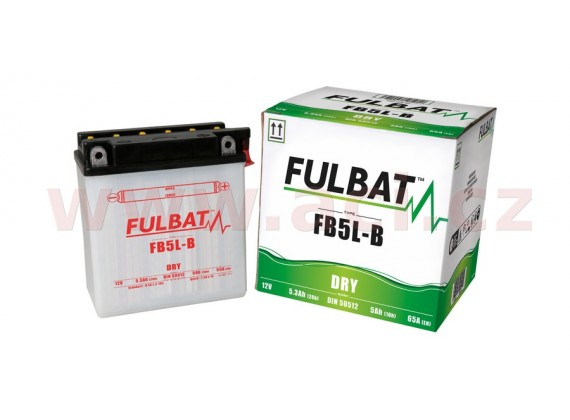 baterie 12V, FB5 l-B, 5Ah, 65A, konvenční 120x60x130 FULBAT(vč. balení elektrolytu)