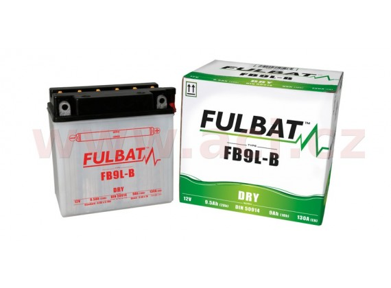 baterie 12V, FB9 l-B, 9Ah, 130A, konvenční 135x75x139 FULBAT (vč. balení elektrolytu)