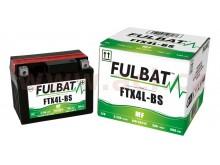 baterie 12V, FTX4L-BS, 3Ah, 50A, bezúdržbová MF AGM 114x71x86, FULBAT (vč. balení elektrol